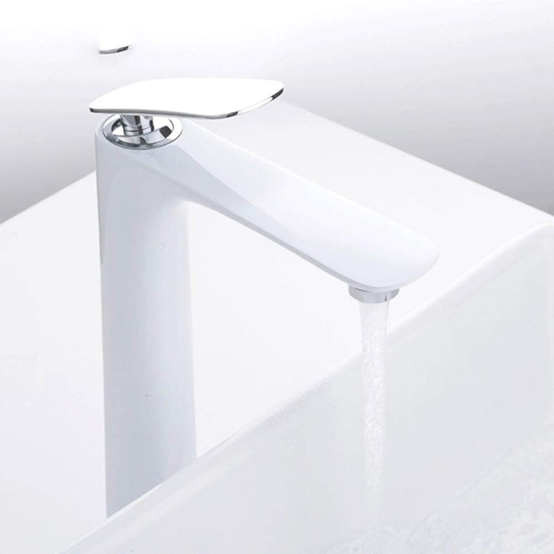 Hiwenr Neue Ankunft Moderne Weie Waschtischarmaturen Badarmaturen Einzigen Handgriff Kalt- Und Warmwassersparbecken Mischbatterie