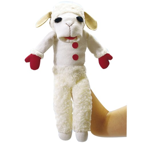 Aurora 15097 Talking Lamb Chop Puppet Toy, Multicolor