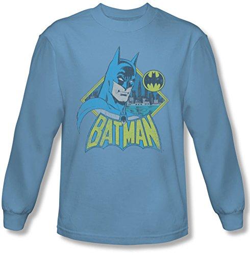 DC Comics–Yourself Reloj para Hombre Camiseta de Manga Larga en Carolina Azul Azul Carolina Blue XX-Large