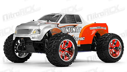1/10 2.4Ghz Exceed RC Infinitve Nitro Gas Powered RTR Off Road Monster 4WD Truck Stripe RedSTARTER KIT Required and Sold Separately