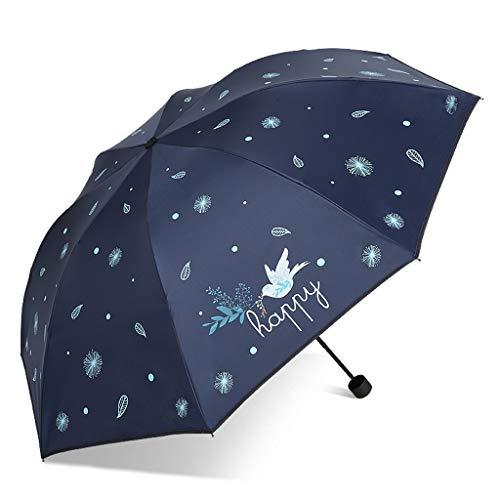 ZhuFengshop paraplu 3-voudige paraplu, winddichte regendichte bescherming parasol met geschikt voor bedrijfslocatie, werk of uitstapjes met een draagbare paraplu draagbaar, regenbestendig