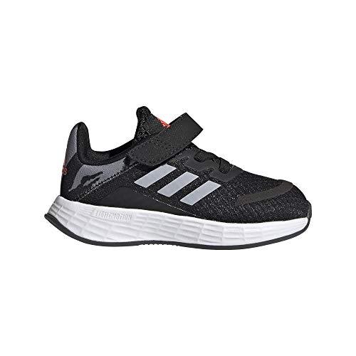 adidas Duramo SL I, Zapatillas de Running Unisex niños, NEGBÁS/PLAHAL/Rojsol, 18 EU