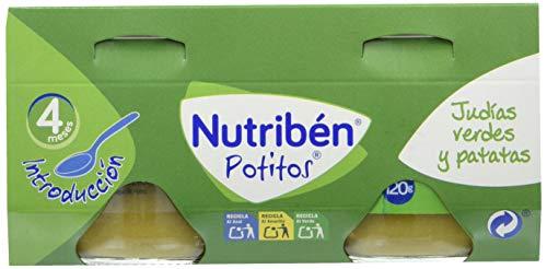 Nutribén Potitos Introducción A Las Judías Verdes Y Patatas Desde Los 4 Meses, 4 Bipacks (8 X 120...