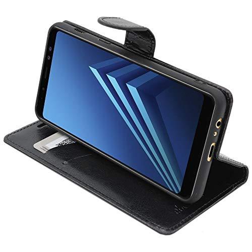 ebestStar - Funda Compatible con Samsung A8 2018 Galaxy SM-A530F Carcasa Cartera Cuero PU, Funda Libro Billetera Ranuras Tarjeta, Función Soporte, Negro [Aparato: 149.2 x 70.6 x 8.4mm, 5.6'']