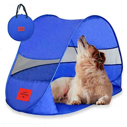 MYDEAL PRODUCTS Pop Up Dog Shelter Weather Resistant Doggy Tent for Shade and UV Sun Protection - Perfect for Yard, Camping, Beach and Outdoors!