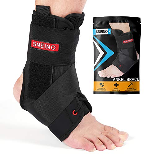 Ankle Brace for Women and Men - Lace Up Adjustable Support,Volleyball Ankle Braces,Basketball Ankle Brace,Ankle Support,Ankle Brace for sprained Ankle,Ankle Brace Stabilizer (Large)