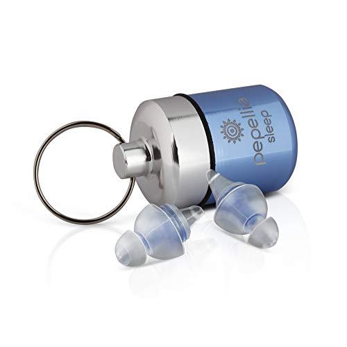 PEPELLIA® Sleep - Ohrstöpsel schlafen bis 39 db - Premium Gehörschutzstöpsel gegen Schnarchen & Lärm - 2-lamellige, Ultra softe Ohrenstöpsel schlafen - bequemer Gehörschutz für Seitenschläfer