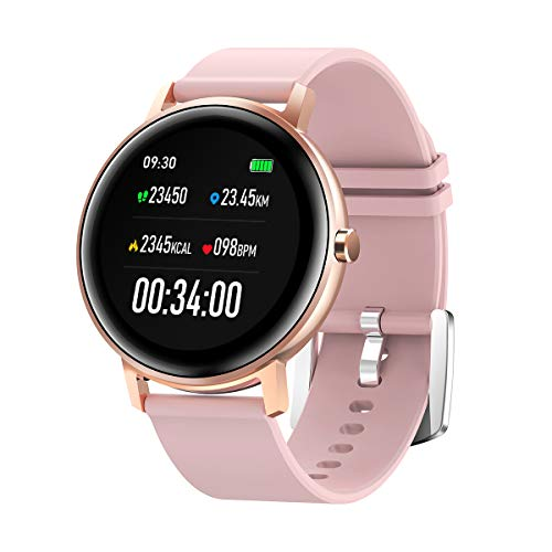 2020 Smart Watch for Women,Sysmarts Fitness Tracker with Heart Rate Monitor,IP67 Waterproof Smartwatch Compatible with iPhone Samsung Android Phones