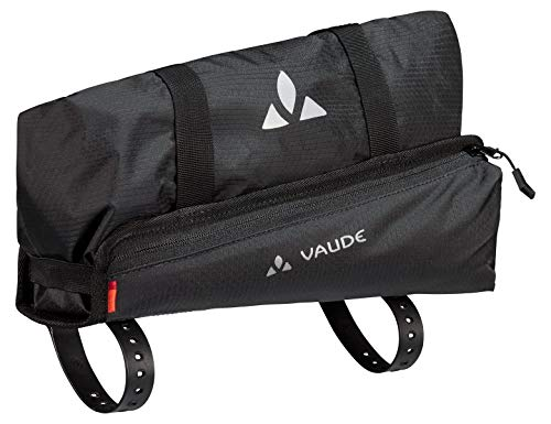 VAUDE Trailguide, Oberrohr-Packtasche für Bikepacking Sporttasche, 30 cm, 5 Liter, Black Uni
