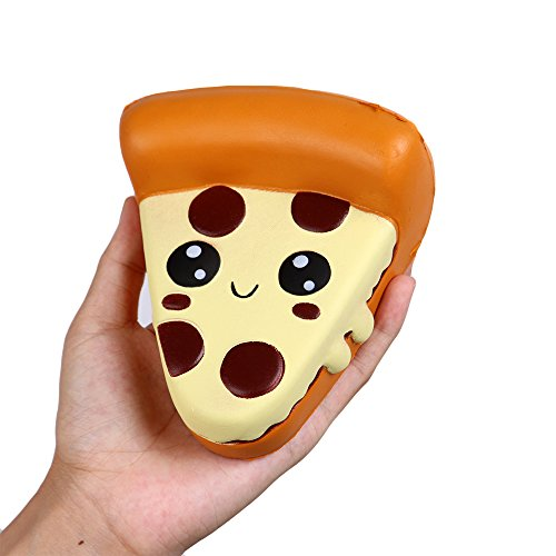 Anboor 39 Inches Squishies Pizza Kawaii Soft Slow Rising Scented Food Squishies Stress Relief Kid Toys Gift Collection