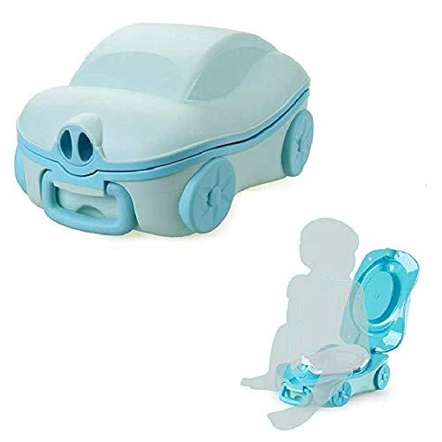 Tragbares Reisetopf-Urinal für Kinder, Baby-Töpfchen,Töpfchen-Training Toiletten-Sitz für Kinder,Kinder-WC Baby Kleine Toilette Kind Töpfchen Urinal (Himmelblau)