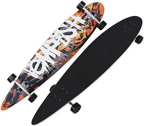 Unbekannt Tempish lässiges Longboard Legend Skateboard Komplettboard Downhill Cruiser Board ABEC 7 High Speed Kugellager 110cm 43