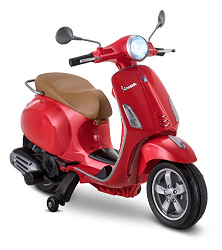 Kid Trax Toddler Vespa Scooter Electric Ride On Toy, 3-5 Years Old, 6...
