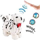 deAO Mascota Interactiva Perrito Robot Inteligente Juguete Electrónico con Ladridos, Movimientos y Sensor al Tacto (Blanco)
