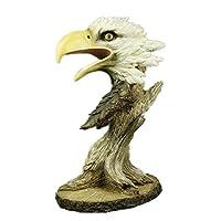 建物の付属品彫像の装飾品彫刻ウッドイーグルの頭装飾芸術彫像樹脂工芸品動物の彫刻リビングルームの装飾