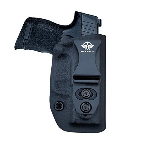IWB Tactical KYDEX Pistolenholster for Sig Sauer P365 Pistolenhalfter Hängend Verdeckte Versteckte Pistole Case Waffenholster (Black, Right Hand Draw (IWB))