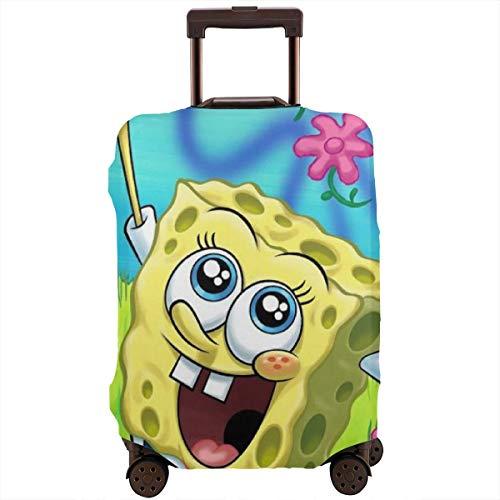 Funda para equipaje de viaje con diseño de Bob Esponja y funda protectora para maleta de flores, lavable, de 18 a 32 pulgadas