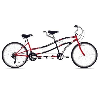Northwoods Dual Drive Tandem Bike, 26-Inch, Red/Black