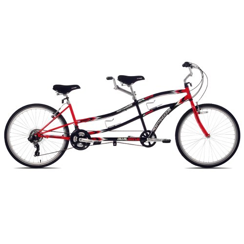 Northwoods Dual Drive Tandem Bike, 26-Inch, Red/Black