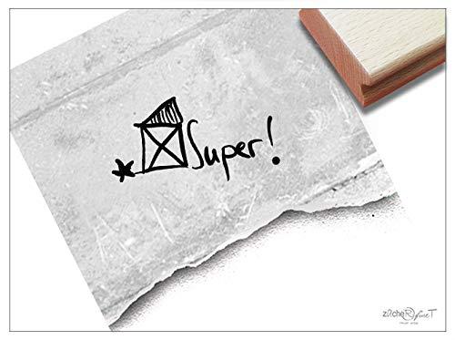 ZAcheR-fineT Stempel, leerkrachtstempel, met huis, tekststempel in handschrift, spreuk, lob voor goede prestaties, motivatie, beloning, beloofing