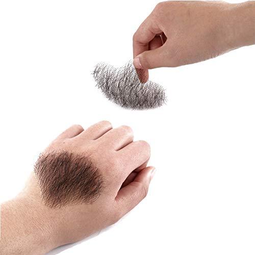 Glue Lace Beard Hand Made Real Hair Mustache Fake Beard For GentleMen Seamless Fake Beards HX05