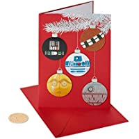 8-Count Papyrus Christmas Cards Boxed Star Wars Holiday Ornaments