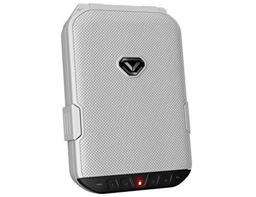 VAULTEK LifePod Secure Waterproof Travel Case Rugged Electronic Lock Box Travel Organizer Portable Handgun Safe with Backlit Keypad (Alpine White)