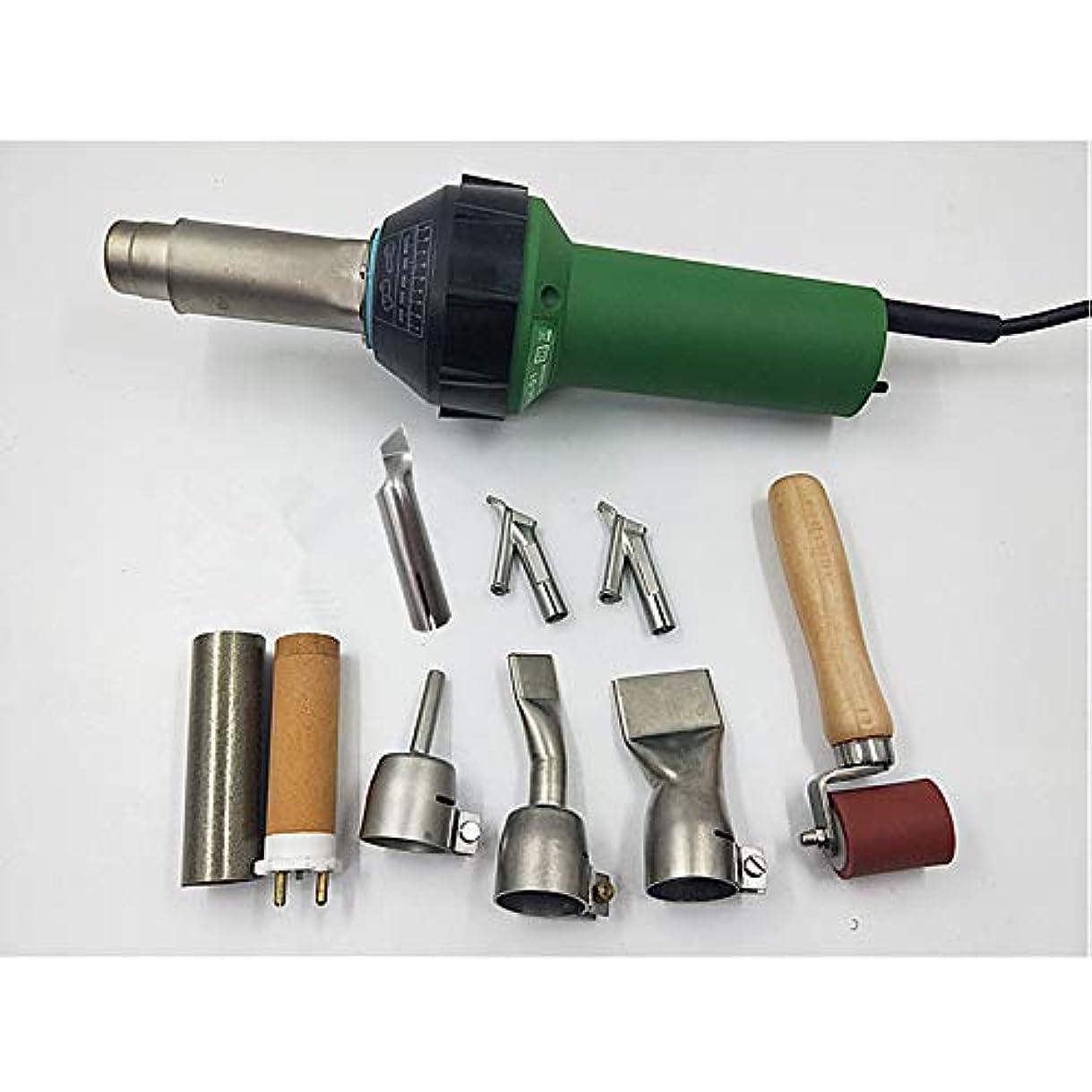 強要セクタフライカイト110 V ホットエアウェルダーガン ヒートガン ビニールフロアオーバーラップ ホットブラストトーチアクセサリー ホットガン 小型 熱風機 プラスチック 溶接機キット 熱い空気銃 電動工具 エア工具