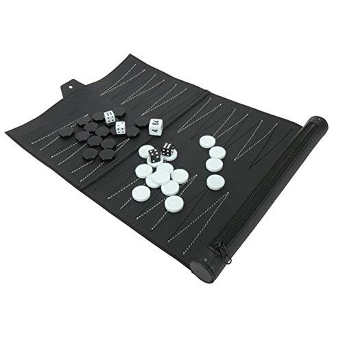 Elibeauty Juego de backgammon, juegos de mesa de backgammon para adultos y...