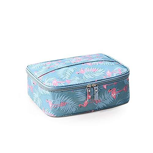 Divinext Women's Zipper Polyester Makeup Organizer Toiletry Bag Kits , 24 x 19 x 10 CM ,(Multi Color)