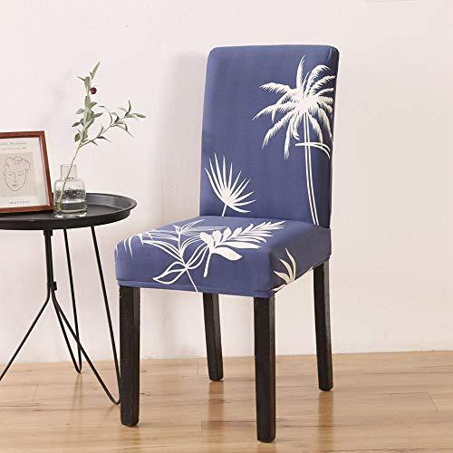 LZHLMCL Maschinenwaschbarer Stuhl Schonbezug Blattdruck Stuhlhussen Stretch Elastic Spandex Stuhl Schonbezug Für Esszimmer Büro Hochzeitsbankett Party 2St