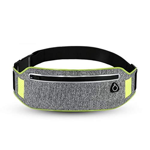 WWWW Sport hardloopzakken licht en comfortabel mode double-layer ontwerp nauwsluitende ademende 31.7×10.3cm reflecterende strip hoofdtelefoon gat ontwerp sporttas