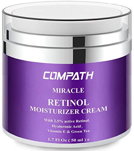 Retinol Moisturizer Cream, COMPATH Anti-aging Wrinkle Night/Day Cream for...