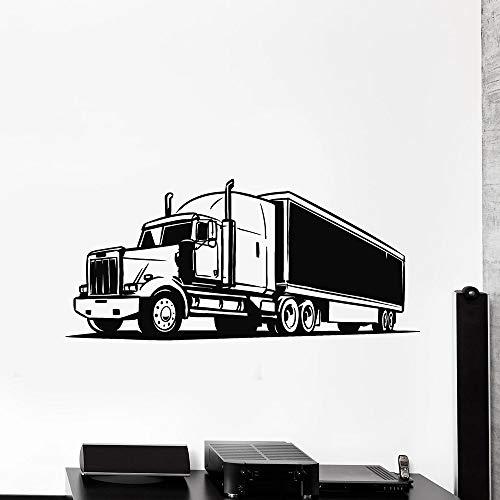 Decoración del transporte del coche del camión para la etiqueta engomada de la decoración del hombre Etiqueta de la pared del vinilo Pegatinas de pared para la habitación del bebé Niño Diseño 63x135cm
