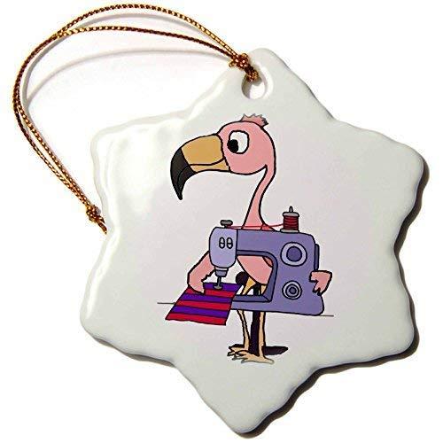 Dant454ty Roze Flamingo met behulp van naaimachine Cartoon Kerstmis Ornamenten voor het Huis 2019 voor Vrouwen Vrienden Kids Kerstboom Ornament