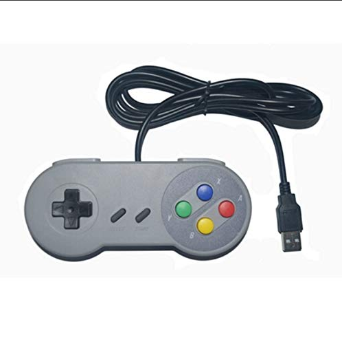 Retro Wired Super for Nintendo SNES USB Controller Gaming Joypad...
