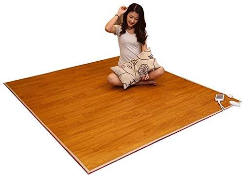 Multipurpose Far Infrared Beheizte Teppich, Holz-Streifen-Kohlenstoff-Kristall-Heizkissen Fußbodenheizung Pad mit...