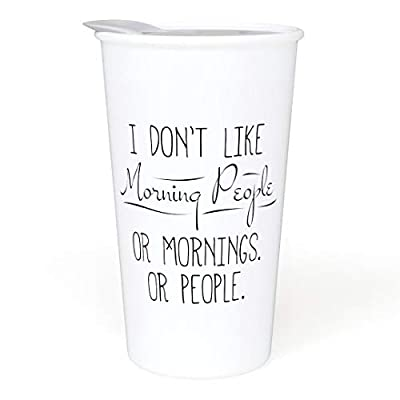 Witty And Clever Porcelain To Go Cup