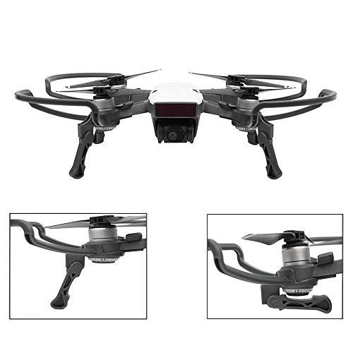 O'woda 2 in 1 Propellers Guard with Foldable Landing Gear for DJI Spark, Quick Release Props Bumper Protective Cover