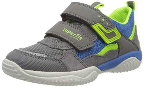 Superfit Jungen Storm Sneaker, Grau (Hellgrau/Gelb 25), 26 EU