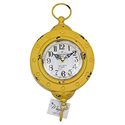 Manual Woodworker Yellow Scale Rue de La Paix Paris Wall Clock