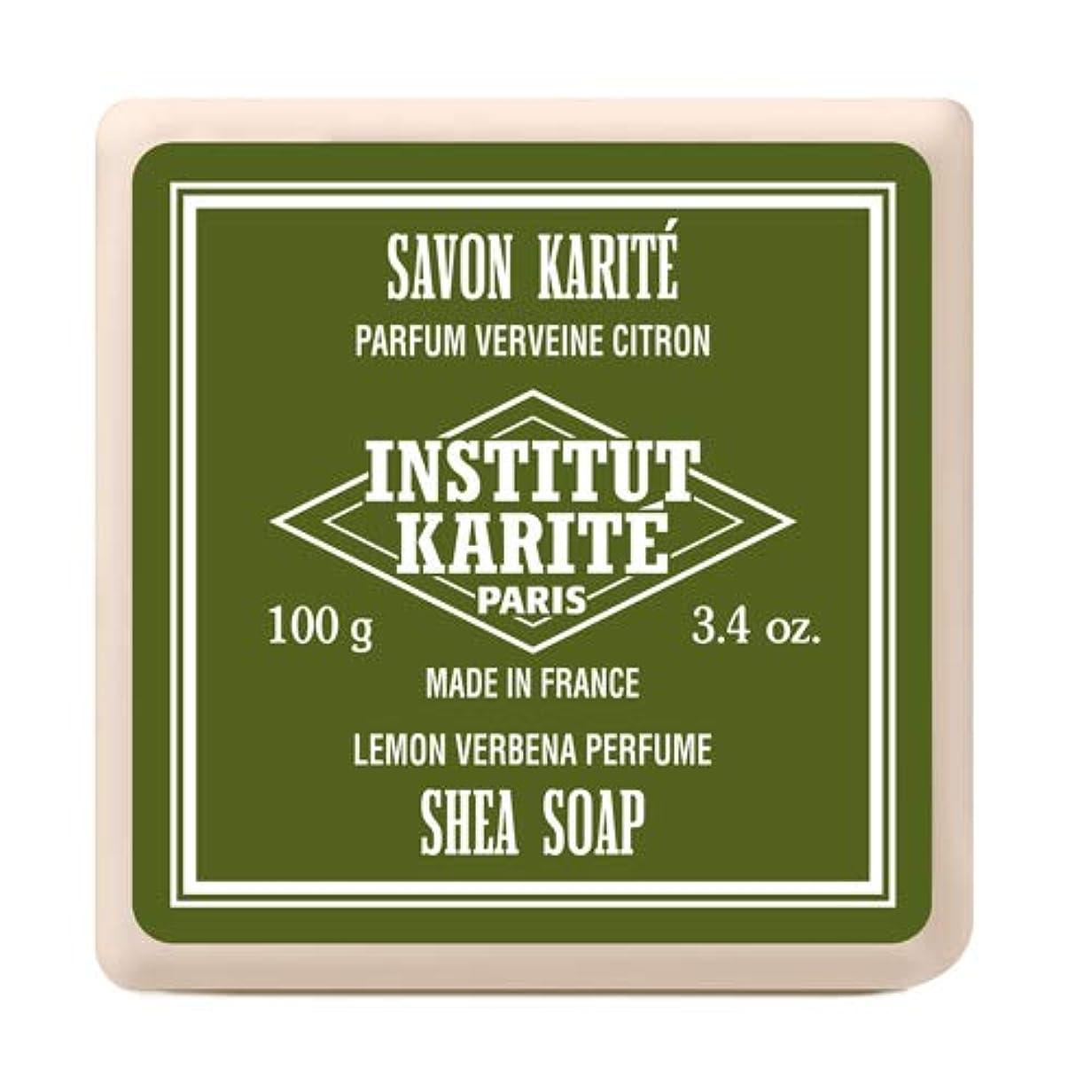相続人アノイ重荷INSTITUT KARITE インスティテュート カリテ Shea Wrapped Soap シアソープ 100g Lemon Vervena レモンバーベナ