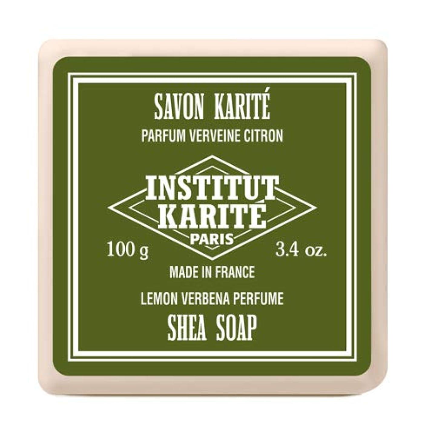 強打プロフェッショナル一INSTITUT KARITE インスティテュート カリテ Shea Wrapped Soap シアソープ 100g Lemon Vervena レモンバーベナ