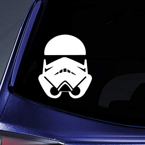 """Bargain Max Decals - Stormtrooper Imperial - Sticker Decal Notebook Car Laptop 6"""" (White)"""