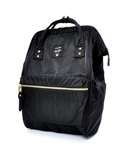 Anello AT-B1491, Mädchen Herren Damen Unisex, Erwachsene (nur Gepäck) Daypack, Schwarz (Schwarz) - AT-B1491