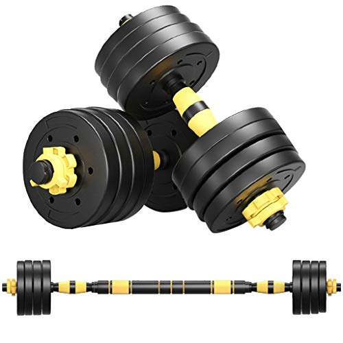XCXC Barbells Set 22/44/66Lbs, Adjustable Weight Dumbells, Home Fitness Equipment for Men and Women Gym Work Out Exercise Training with Connecting Rod Used as Barbells (D 88LB)