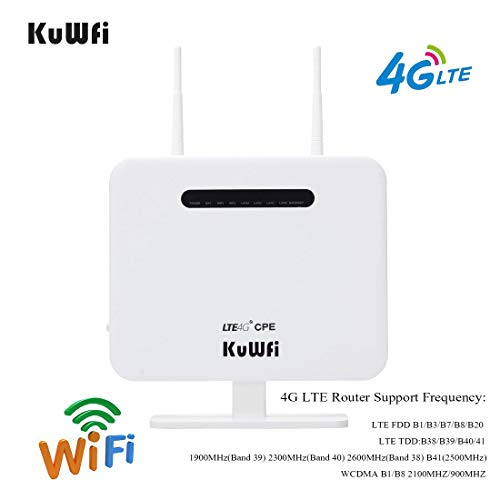 KuWFi Smart Mobile Portable 3000mAh Power Bank 3G Wireless Router WiFi Ripetitore Scheda SIM con RJ45 per iPhone Samsung Tablet Supporto WCDMA Network