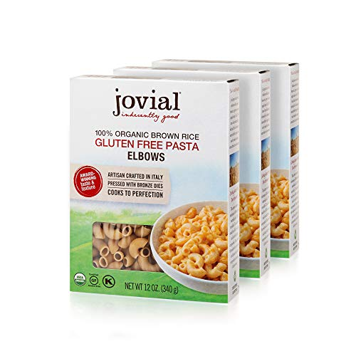 Jovial 100% Organic Gluten Free Brown Rice Pasta, Elbows, 4 Count