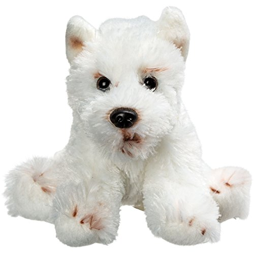 Top venta suave peluche juguete Animal–pequeño sentado de peluche West Highland Terrier–Un regalo ideal para decir Bienvenido a el mundo para los recién nacidos