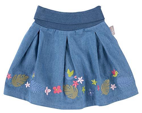 SIGIKID Mini - Mädchen Rock aus Bio-Baumwolle im Volantlook, Blau, 122